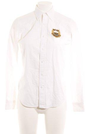 Ralph Lauren Sport Langarm-Bluse weiß klassischer Stil