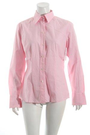Ralph Lauren Sport Langarm-Bluse weiß-rosa Streifenmuster sportlicher Stil