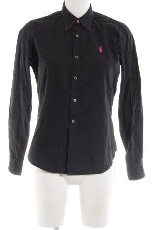 Ralph Lauren Sport Langarmhemd schwarz Business-Look