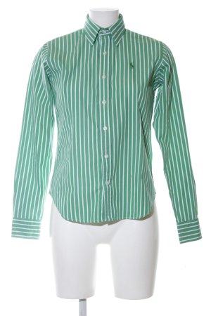 Ralph Lauren Sport Langarmhemd grün-weiß Streifenmuster Casual-Look