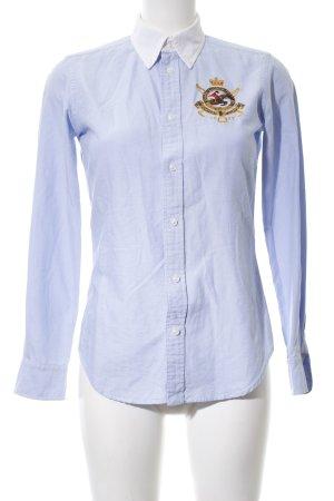 Ralph Lauren Sport Langarmhemd blau-weiß Casual-Look