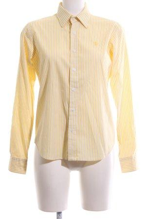 Ralph Lauren Sport Langarmhemd blassgelb-weiß Streifenmuster Casual-Look