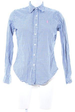 Ralph Lauren Sport Langarmhemd blau-weiß Vichykaromuster Elegant