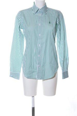 Ralph Lauren Sport Langarmhemd grün-weiß Streifenmuster Business-Look