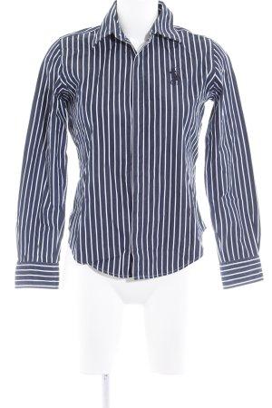 Ralph Lauren Sport Langarmhemd dunkelblau-weiß Streifenmuster Casual-Look