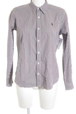 Ralph Lauren Sport Langarmhemd dunkelbraun-weiß Streifenmuster Business-Look