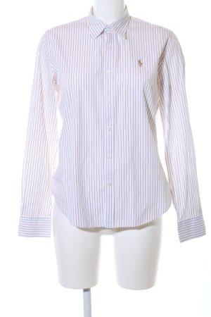 Ralph Lauren Sport Langarmhemd weiß-braun Streifenmuster Business-Look