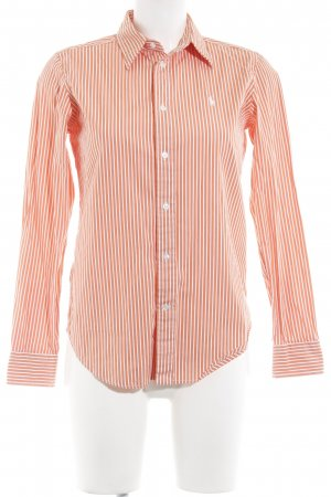 Ralph Lauren Sport Langarmhemd weiß-apricot Streifenmuster Business-Look