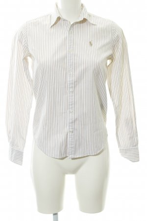 Ralph Lauren Sport Langarmhemd weiß-beige Streifenmuster Business-Look