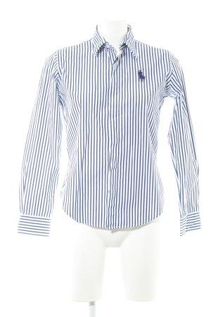 Ralph Lauren Sport Langarmhemd weiß-dunkelblau Streifenmuster Business-Look