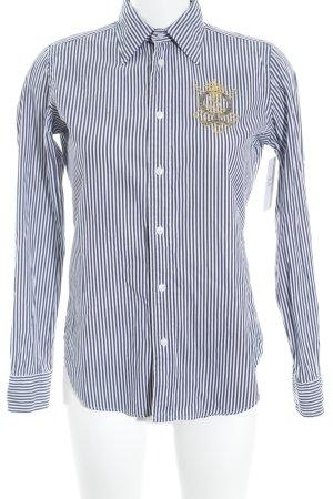Ralph Lauren Sport Langarmhemd weiß-dunkelblau Streifenmuster Casual-Look