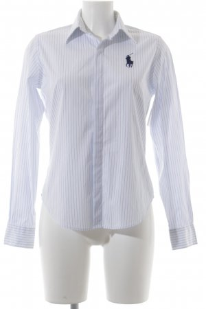 Ralph Lauren Sport Camisa de manga larga blanco-azul claro estampado a rayas