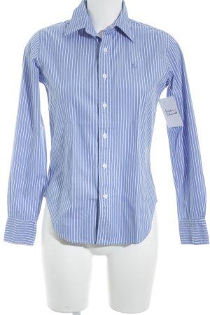 Ralph Lauren Sport Langarmhemd weiß-himmelblau Streifenmuster Business-Look