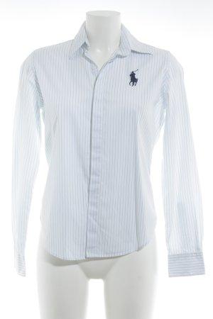 Ralph Lauren Sport Langarmhemd weiß-himmelblau Streifenmuster Casual-Look