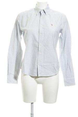 Ralph Lauren Sport Langarmhemd weiß-himmelblau Streifenmuster schlichter Stil