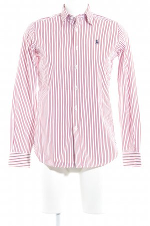 Ralph Lauren Sport Camisa de manga larga blanco-rojo ladrillo estampado a rayas