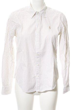 Ralph Lauren Sport Langarmhemd wollweiß-beige Streifenmuster Casual-Look