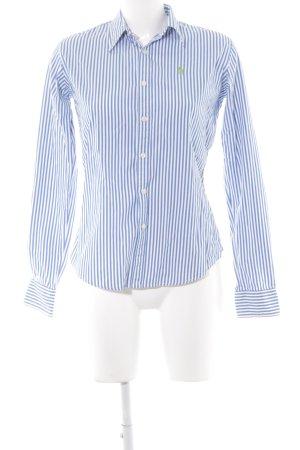 Ralph Lauren Sport Langarmhemd wollweiß-blau Streifenmuster Brit-Look