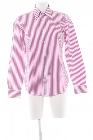 Ralph Lauren Sport Langarmhemd wollweiß-himbeerrot Streifenmuster Business-Look
