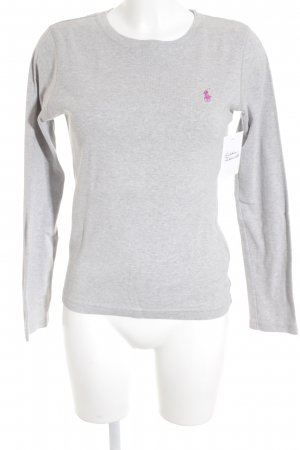 Ralph Lauren Sport Longsleeve grau-rosa Casual-Look