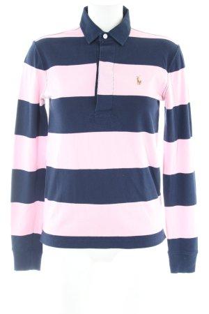 Ralph Lauren Sport Polo-Shirt blau-pink Streifenmuster Casual-Look