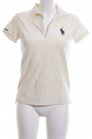 Ralph Lauren Sport Polo-Shirt creme-blau Casual-Look