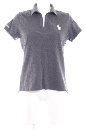 Ralph Lauren Sport Polo-Shirt anthrazit Schriftzug gestickt Casual-Look