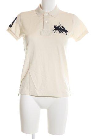 Ralph Lauren Sport Polo-Shirt creme-schwarz Motivdruck Casual-Look