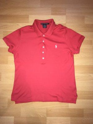 Ralph Lauren Sport Polo rouge fluo coton