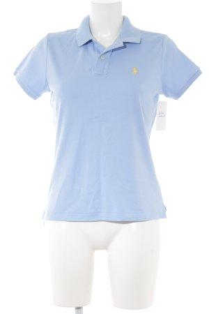 Ralph Lauren Sport Polo-Shirt himmelblau-dunkelgelb Casual-Look