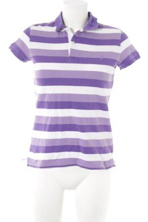 Ralph Lauren Sport Polo-Shirt lila-weiß Ringelmuster Casual-Look