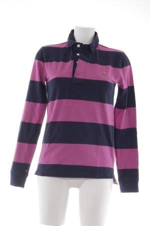 Ralph Lauren Sport Polo-Shirt pink-dunkelblau Streifenmuster sportlicher Stil