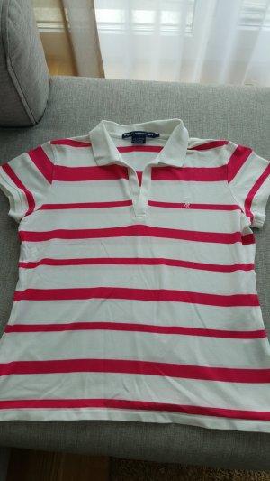 Ralph Lauren Sport Polo Shirt pink weiss