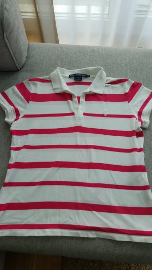 Ralph Lauren Sport Polo Shirt pink weiss