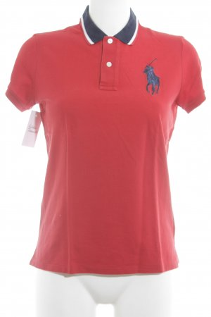 Ralph Lauren Sport Polo-Shirt rot-dunkelblau sportlicher Stil
