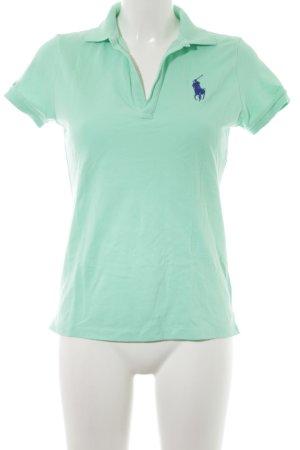 Ralph Lauren Sport Camiseta tipo polo turquesa look casual