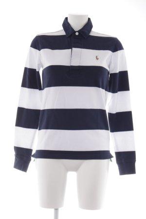 Ralph Lauren Sport Polo-Shirt wollweiß-dunkelblau Streifenmuster