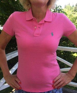 Ralph Lauren Sport, Poloshirt pink Gr. M, Skinny Fit , Neu!