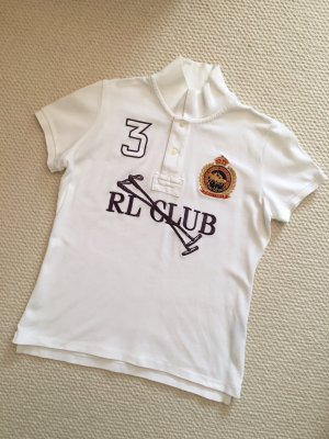 Ralph Lauren Sport Poloshirt, RL Club, weiß, neuwertig