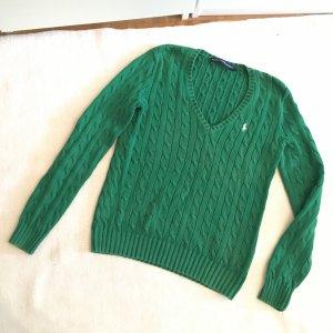 Ralph Lauren Sport Jersey de cuello redondo verde bosque-verde oscuro