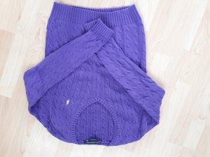 Ralph Lauren Sport Pullover lila Strick Zopf