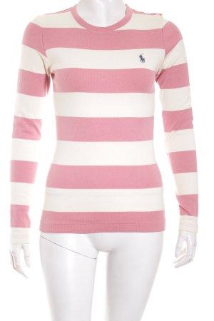 Ralph Lauren Sport Pullover wollweiß-rosa Streifenmuster Casual-Look