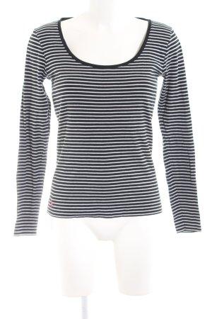 Ralph Lauren Sport Ringelshirt schwarz-weiß Streifenmuster Casual-Look