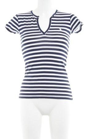 Ralph Lauren Sport Gestreept shirt wit-donkerblauw gestreept patroon