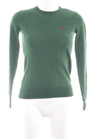 Ralph Lauren Sport Rundhalspullover grün meliert Casual-Look