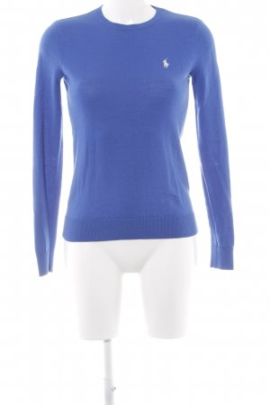 Ralph Lauren Sport Rundhalspullover blau Casual-Look