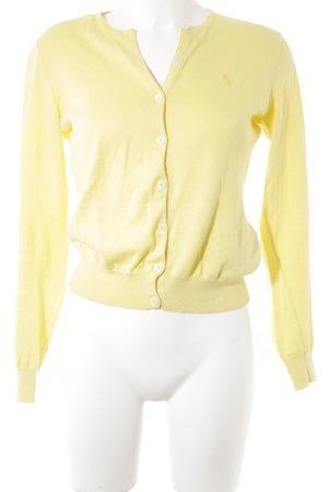 Ralph Lauren Sport Strick Cardigan blassgelb Brit-Look