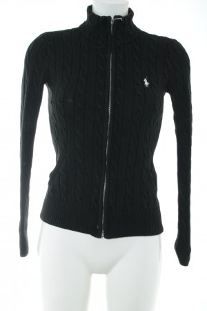 Ralph Lauren Sport Strickjacke schwarz Casual-Look