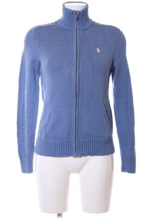 Ralph Lauren Sport Strickjacke blau Zopfmuster Casual-Look