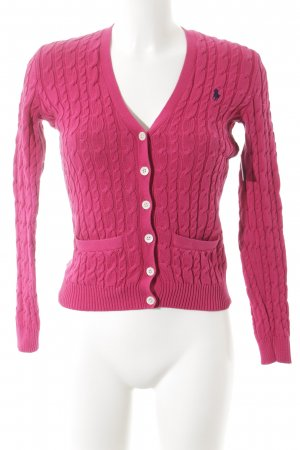 Ralph Lauren Sport Strickjacke magenta Casual-Look